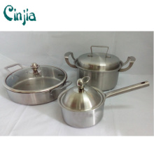 6 PCS Cookware Set Good Cook of The Stainess Steel Cookware