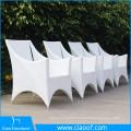 Table de salle à manger de luxe en rotin blanc 4 places de luxe