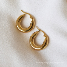 Custom Fashion Gold Earrings Jewelry 18k Gold Plated Stainless Steel Jewelry For Ladies's Earring