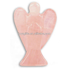 Ailes à anges sculptées à la main 2 anges de pierres précieuses