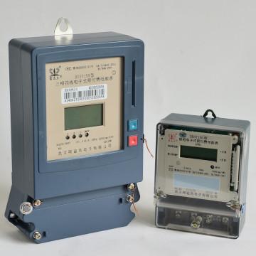 Medidor de energia eletrônica de pré-pagamento eletrônico simples e trifásico