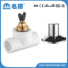 Válvula de esfera de bronze de PPR para materiais de construção da água (PN25)