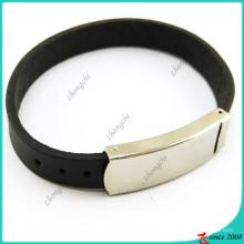 Bracelet en cuir noir simple pour homme (LB16041947)