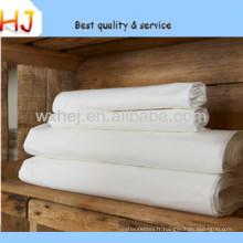 Tissu de literie blanc tissé de grande largeur T / C 50/50