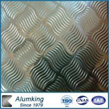 Plaque en aluminium gaufré pour paquet
