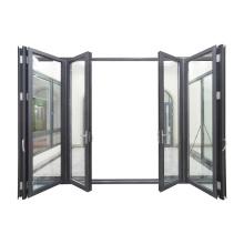 WANJIA Sound and heat insulation aluminum folding door mechanism aluminum door