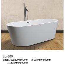 Bañera de pie acrílico blanco con la línea roja