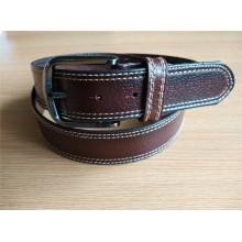 Cinturão de couro dos homens da nova moda com ponto de borda