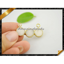 Wholesale White Druzy Jewelry Pendants with Double Bail (EF0120)
