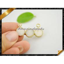 Оптовые белые подвески ювелирных изделий Друзи с двойной порукой (EF0120)