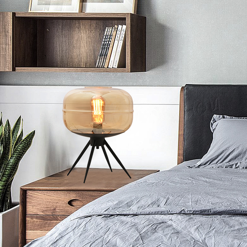 Application Small Grey Table Lamp