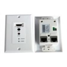 Extension IR télécommande 50m HDMI plaque murale Via un câble UTP double