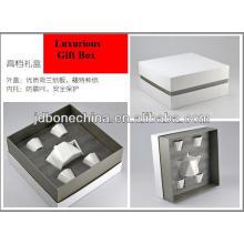Porcelana hueso china café té set 2013 año nuevo productos cumpleaños navidad decoración PE caja de regalo