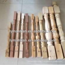 poteau de bois en bois recon