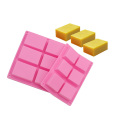 6 Cavity Silicone Soap Mold For Homemade Craft Soap Mold Thickened Rectangle Silicone Molds for Soap Making