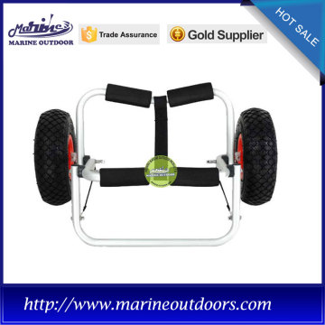 Aluminum boat trailer, Canoe carrier trolley, Collapsible anodized kayak cart