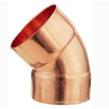 J9007 Coude en cuivre de 45 degrés CXC, 45 coude, raccord de tuyau en cuivre, UPC, NSF SABS, approuvé WRAS