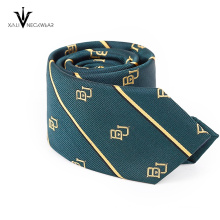 Benutzerdefinierte Streifen Name Marke gewebte Krawatte