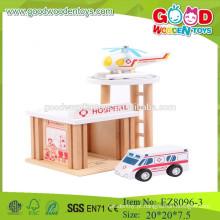 Crianças brinquedos pré-escolares set hospital finja play pré escolar conjunto brinquedos madeira hospital conjunto brinquedos
