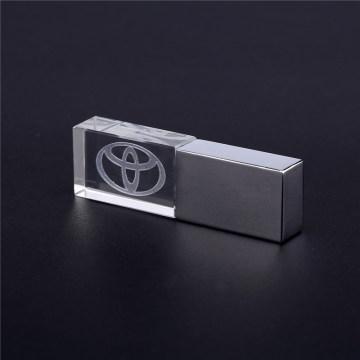 Crystal gift pen disk memory sticks customed logo