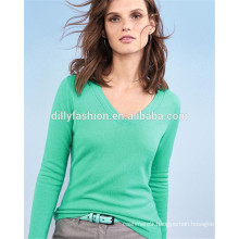 v-neck womens knitwear wholesale sweater cashmere