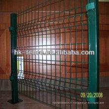 Clôture soudée de maille de tube carré enduit par PVC vert