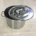 Cubeta de aço inoxidável da sopa de 30cm / de 60cm baixa MOQ / tipo americano tambor da sopa