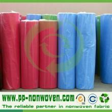 Rollo no tejido de la tela del precio bajo de la fuente de la fábrica de China
