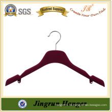 Flocked Hanger Velvet Hanger für Kleid