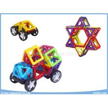 42 STÜCKE mit Rädern DIY Magnetische Puzzle Spielzeug Weisheit Mag Bildung Spielzeug für Kinder
