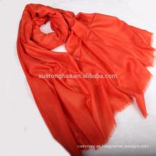 chal de pashmina kani en color naranja