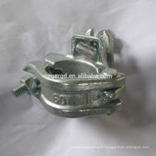 Coupleur fixe galvanisé par échafaudage 60x48 forgé