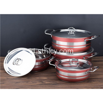 Set Peralatan Masak Stainless Steel Multiclad yang Menebal