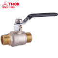 Black handle forging straight through brass ball valve FxF