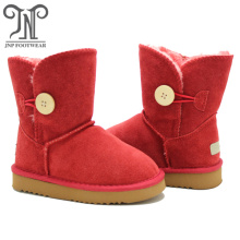 Girls Warm Winter Flat Bailey Button Snow Boots