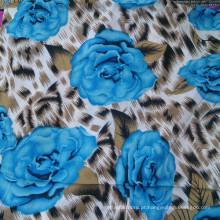 Tecido bonito do Rayon da flor para o vestido e as calças