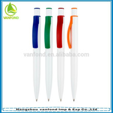 Hot selling cheap milky plastic pens for promotion
