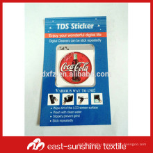 personalized custom logo in microfiber phone cleaner sticker CD