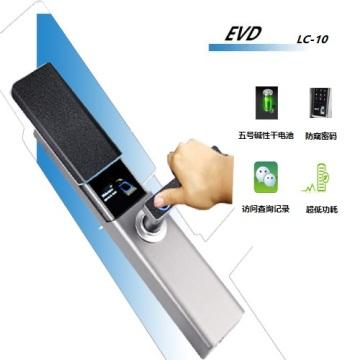 Sliding cover fingerprint lock
