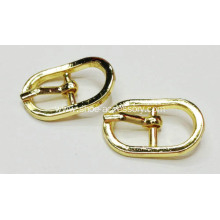 Light Gold Metal Pin Buckle, Center Bar Buckle