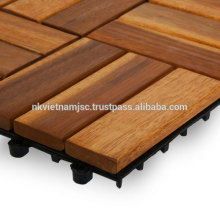 WOOD DECK TILES CHEAP PRICE FOR BALCONY / WOODEN TILES IKEA STANDARD AT CHEAP PRICE
