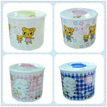 Cartoon Printing Round Fashion PP Tissue Boxes (FF-0220)