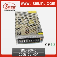 200W 5V 40A Fuente de alimentación de conmutación AC 220V o 110V