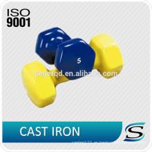 Tipo pequeño portátil de la capa del vinilo del hierro fundido de las pesas de gimnasia
