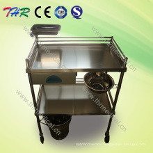 Hospital Stainless Steel Treatment Trolley