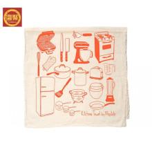 Toalla de microfibra 100%, toalla de té impresa de tamaño estándar al por mayor