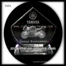 Prêmio de cristal da motocicleta do cristal do laser 3D
