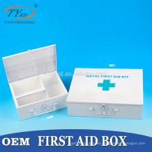 direct factory first aid kit empty metal box