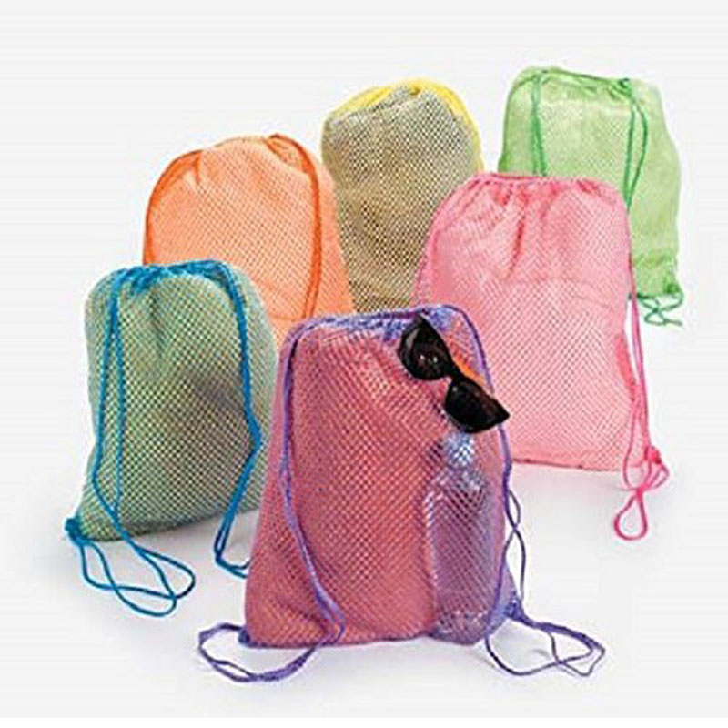 Neon Net Backpacks