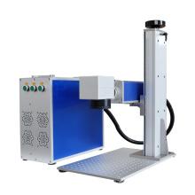 ready to ship portable metal 20W 30W 50W RAYCUS source metal marking buttons fiber laser marking machine